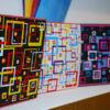 Kép 4/4 - Kontúrmatrica - retró négyzetek, sötétkék, 0496  - AKCIÓS