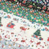 Kép 2/3 - Patchwork anyag - Makower - Christmas 21 Santa Express 2378-1 Placement, Panel, 20cm