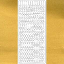 Kontúrmatrica - számok, arany, 0003