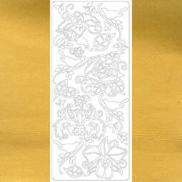 Kontúrmatrica - virágok, madarak, arany, 0279