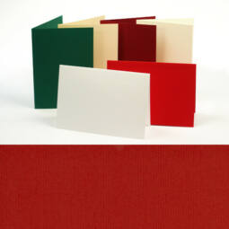 Paszpartu kártya, teli, A6 - rubin, 2 részes
