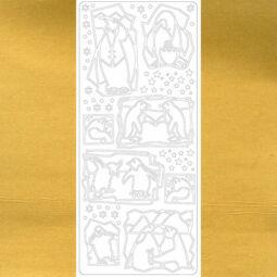 Kontúrmatrica - pingvinek, arany, 0114 - AKCIÓS
