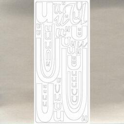 Kontúrmatrica - betű, U, ezüst, 0250  - AKCIÓS