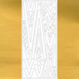 Kontúrmatrica - betű, V, arany, 0251  - AKCIÓS