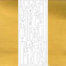 Kontúrmatrica - betű, I, arany, 0270  - AKCIÓS