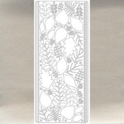 Kontúrmatrica - 3D levelek, ezüst, 0425  - AKCIÓS