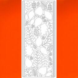 Kontúrmatrica - 3D levelek, narancs, 0425  - AKCIÓS