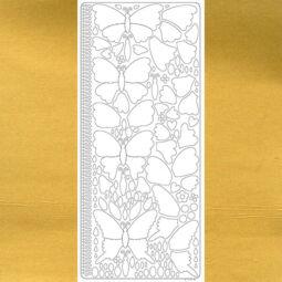 Kontúrmatrica - 3D pillangók, arany, 0426  - AKCIÓS