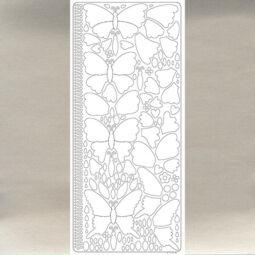 Kontúrmatrica - 3D pillangók, ezüst, 0426  - AKCIÓS