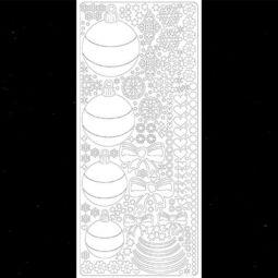 Kontúrmatrica - gömbdíszek, fekete, 0433 - AKCIÓS
