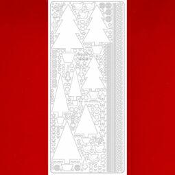 Kontúrmatrica - fenyőfák, bordó, 0435 - AKCIÓS