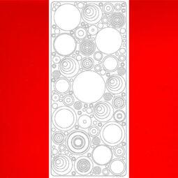 Kontúrmatrica - retró körök, piros, 0495  - AKCIÓS