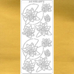 Kontúrmatrica - tavirózsák, arany, 2284  - AKCIÓS