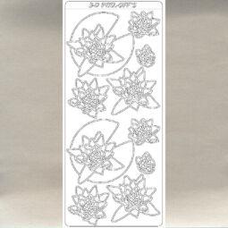 Kontúrmatrica - tavirózsák, ezüst, 2284  - AKCIÓS