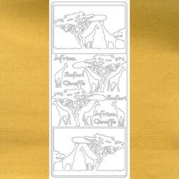 Kontúrmatrica - zsiráf, arany, 2830  - AKCIÓS