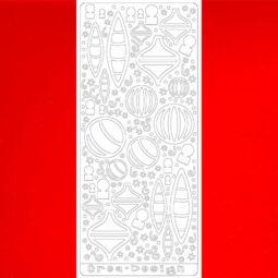 Kontúrmatrica - variálható karácsonyi díszek, piros, 4048 - AKCIÓS