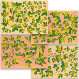 Esprimo decoupage papír készlet - borostyán, 4 ív
