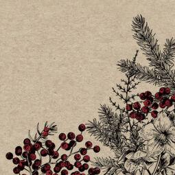 Szalvéta csomagban - Natural botanikai xmas