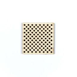 Fa forma hímezhető - négyzet, 4 cm