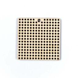 Fa forma hímezhető - négyzet, 5 cm
