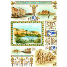 Esprimo decoupage papír - Egyiptom