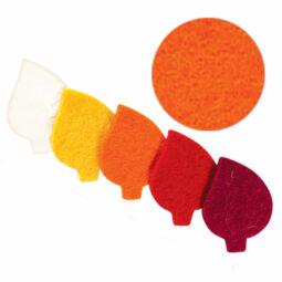 Filc forma, lapos - levél, narancs, darabra