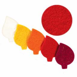 Filc forma, lapos - levél, piros, darabra