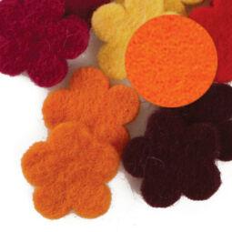 Filc forma, lapos - virág, narancs, darabra