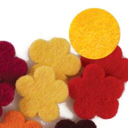 Filc forma, lapos - virág, sárga, darabra