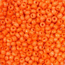 Kásagyöngy, telt színű, 2 mm - narancssárga