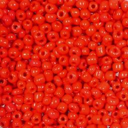 Kásagyöngy, telt színű, 2 mm - piros