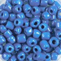 Teli színű kásagyöngy, 4 mm - középkék