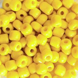 Teli színű kásagyöngy, 4 mm - citromsárga