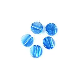 Üveggyöngy Yingli - kerek, kék, 5 db