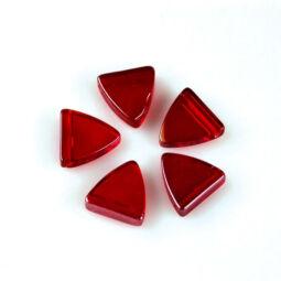 Üveggyöngy Yingli - pajzsgyöngy, piros, 5 db