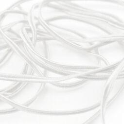 Sujtás zsinór, 3 mm - fehér