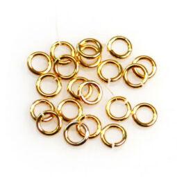 Szerelőkarika, szimpla - aranyszínű, 5 mm