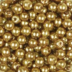 Műanyaggyöngy, viaszos, 4 mm, 20 g - arany