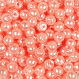 Műanyaggyöngy, viaszos, 4 mm, 20 g - erősrózsaszín