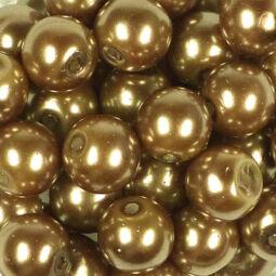 Műanyaggyöngy, viaszos, 8 mm, 75 g - arany