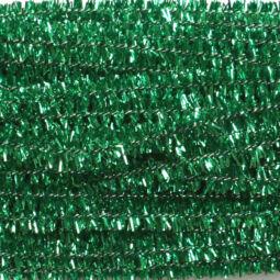 Zsenília, 30 cm - csillámos zöld