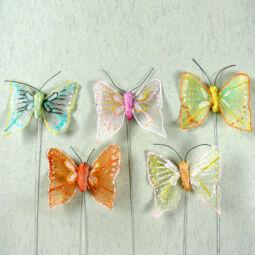 Pillangó, csillogó, 5,5 cm, 1 db