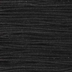 Ékszerzsinór, 0,5 mm vékony, méterben - 89, fekete