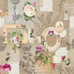 Szalvéta - Keretek és virágok (r)