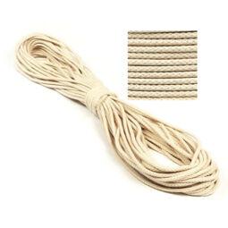 Kötél, pamut - 5 mm, natúr