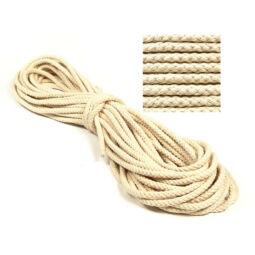 Kötél, pamut - 8 mm, natúr