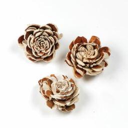 Száraztermés - Kézműves virág, natúr, 4 cm, 1 db