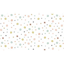 Patchwork anyag - Makower - Christmas Modern Metallic 1802/W Stars