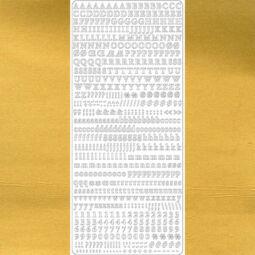 Kontúrmatrica - klasszikus betűk, számok, arany, 1847