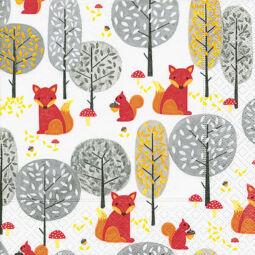 Szalvéta - Gombászó rókák (k)